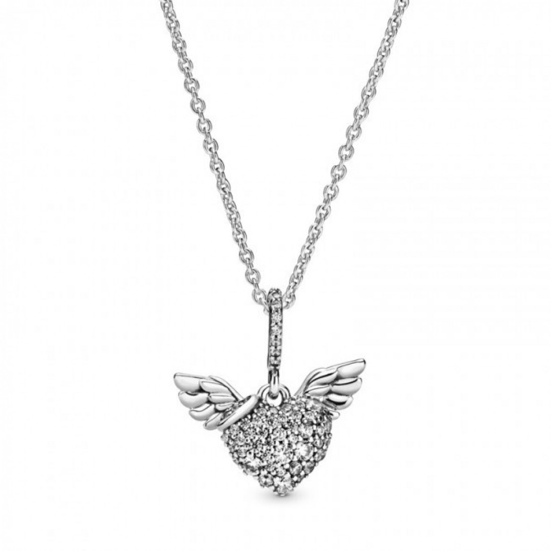 Colar PANDORA Heart & Angel Wings